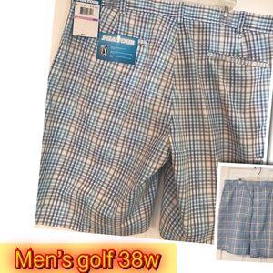 PGA Golf New Men Comfy Fabric Shorts 38W